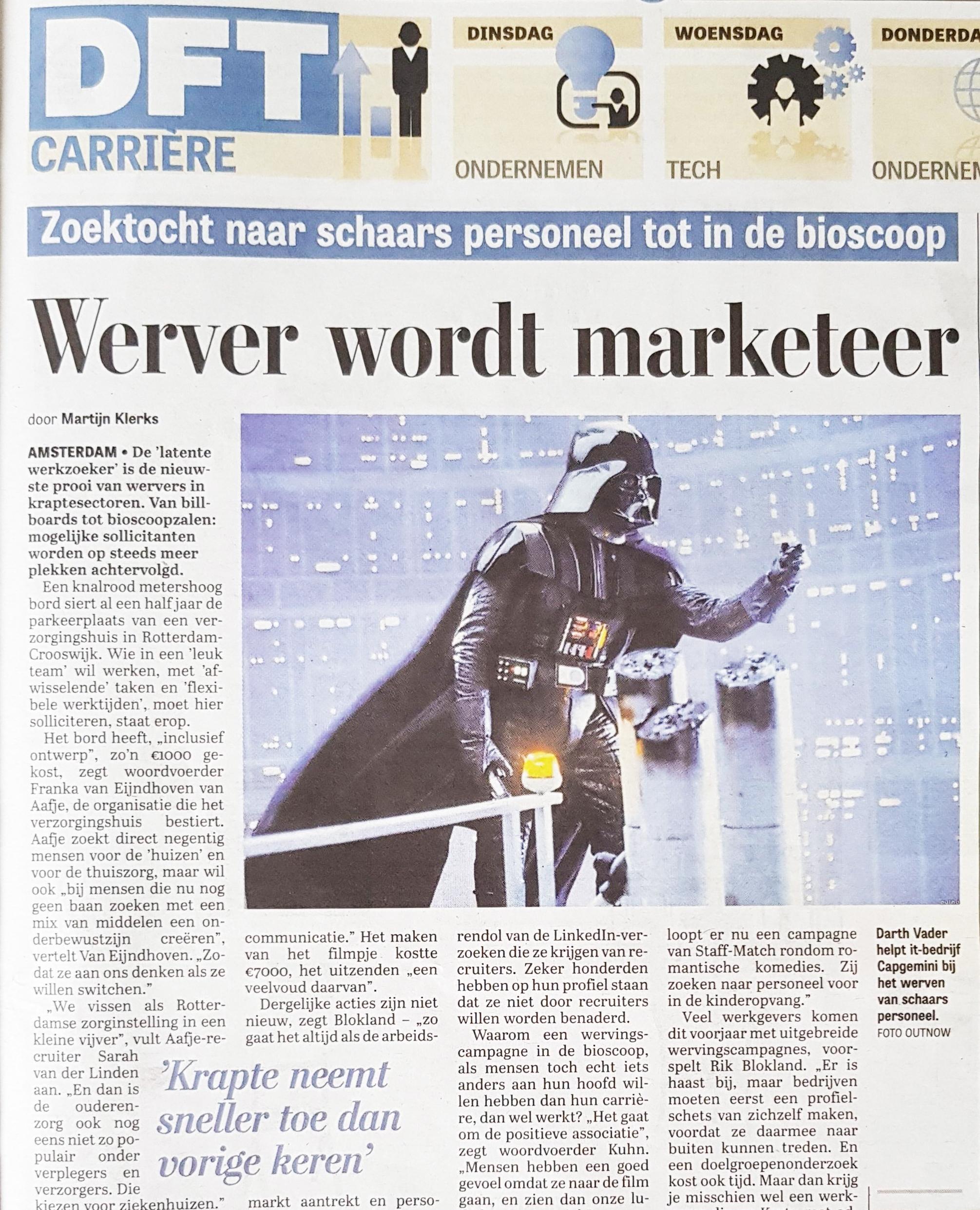 In het nieuws Capgemini, Star Wars en Employer Brander
